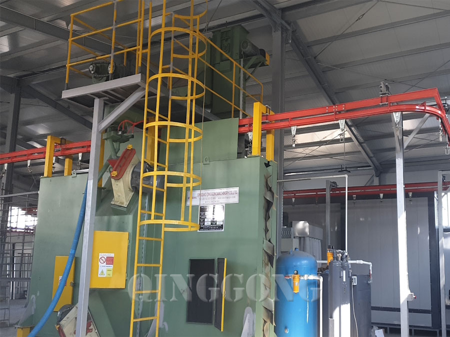 overhead rail shot blasting machine 3