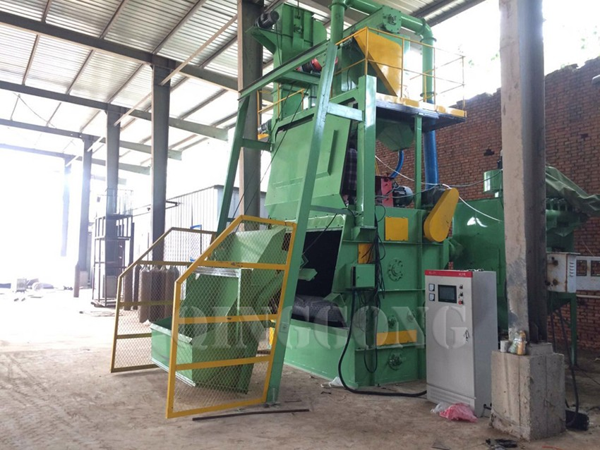 tumble belt shot blasting machine 1