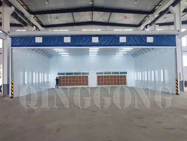 Retractable spray booth 2